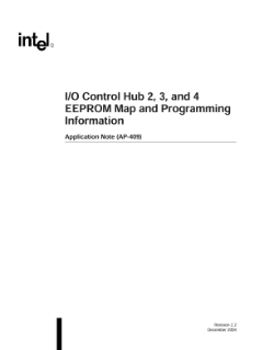 I/O Control Hub 2, 3, 4 and 5 EEPROM Map and Programming Information Application Note (AP-409)