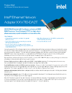 Intel® Ethernet Network Adapter XXV710-DA2T Brief