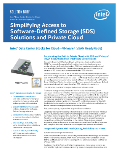 Increase Access to Private Cloud — SDS, VMware* vSAN ReadyNodes