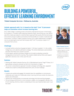 Building a Powerful, Efficient Learning Environment Case Study