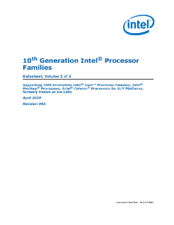 10th Gen Intel® Core™ Processor Families Datasheet, Vol. 2