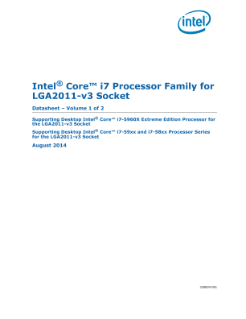 Intel® Core™ i7 Processor Family for LGA2011-v3 Socket - Datasheet, Volume 1 of 2