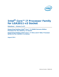Intel® Core™ i7 Processor LGA2011-3 Datasheet, Vol. 2
