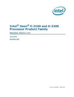 Intel® Xeon® E-2100 and E-2200 Processor Family Datasheet, Vol. 1