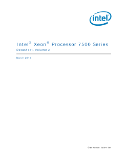 Intel® Xeon® Processor 7500 Series Datasheet, Vol. 2
