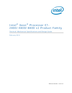 Intel® Xeon® Processor E7-2800, E7-4800, E7-8800 v2 Thermal Guide