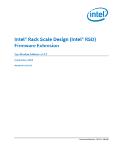 Intel® Rack Scale Design (Intel® RSD) Firmware Extension Specification