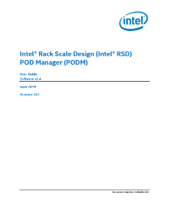 Intel® Rack Scale Design (Intel® RSD) POD Manager User Guide
