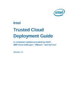 Intel Trusted Cloud Deployment Guide