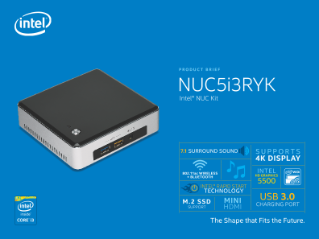 Intel® NUC Kit NUC5i3RYK Product Brief