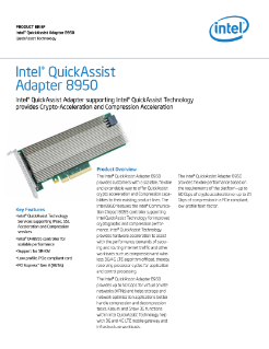 Intel® QuickAssist Adapter 8950 Product Brief