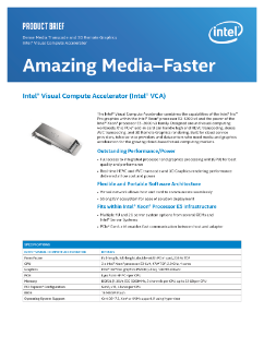 Intel® Visual Compute Accelerator Product Brief