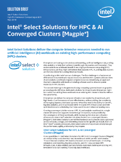 Intel Select Solutions for HPC & AI Converged Clusters [Magpie]