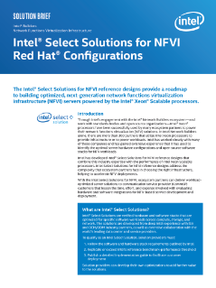 Intel® Select Solution for NFVI Red Hat Configurations
