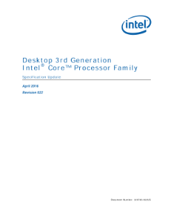 Desktop 3rd Generation Intel® Core™ Processor Family: Spec Update