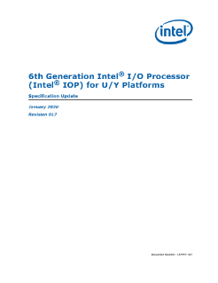 6th Generation Intel® Processor I/O for U/Y Platforms - Datasheet