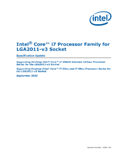 Intel® Core™ i7 Processor Family for LGA2011-v3 Socket