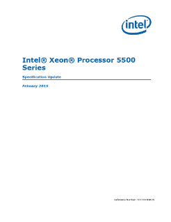 Intel® Xeon® Processor 5500 Series Specification Update