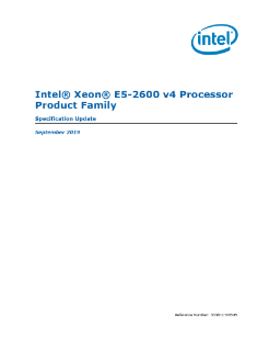Intel® Xeon® Processor E5-2600 v4 Family Datasheet