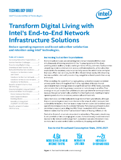 Intel® Connected Home Technologies End-to-End Solutions