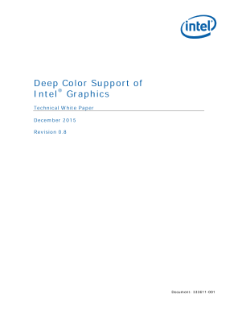 Deep Color Support of Intel® Graphics White Paper