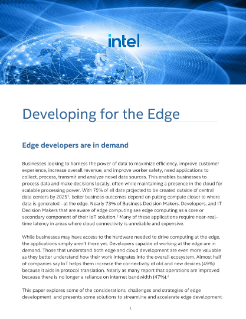 Developing for Edge Computing