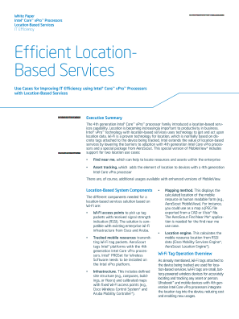 Efficient Location-Based Services
