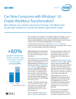Enable Windows* 10 Workforce Mobility